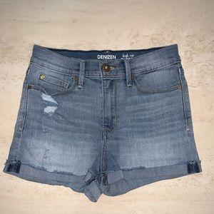 Levi's high rise jeans shorts